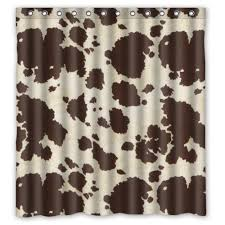 Cow Print Kitchen Curtains Cow Shower Curtains Kritters In The Mailbox Cow Shower Curtain
