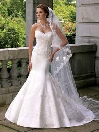 plain white wedding dresses aliexpress buy plain white wedding dress mermaid satin with