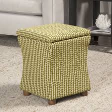 kinfine geometric kiwi green cinch storage cube ottoman living