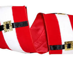 santa belt ribbon ribbon belt buckle etsy
