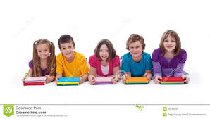 kids with colorful books royalty free stock images image