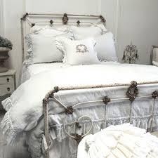 White Linen Duvet Vintage Ruffle Duvet Cover A Cottage In The City