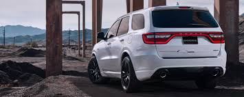 Dodge Durango Srt - 2018 dodge durango srt exterior white color rearview ndorodonker com