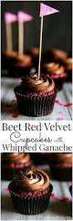 beet red velvet cupcakes with whipped chocolate ganache vanilla