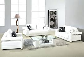 Modern White Bonded Leather Sectional Sofa Leather Sofa 2811 Black And White Bonded Leather Sofa Set White