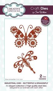 wilson designs die industrial chic collection butterfly