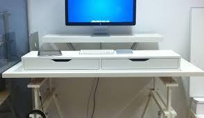 Adjustable Computer Stand For Desk Desk Adjustable Height Computer Desk Freedom Raised Computer