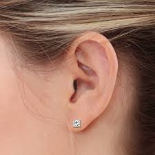 earring on ear earring sizing guide at my wedding ring