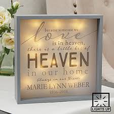 personalized remembrance gifts heaven in our home 10x10 custom led light shadow box sympathy gifts