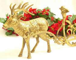 Christmas Reindeer Table Decor by Reindeer Centerpiece Etsy