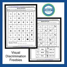 Visual Discrimination Worksheets Visual Discrimination Archives Page 2 Of 4 Your Therapy Source