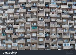 ugly hive like resident block building stock photo 40806223