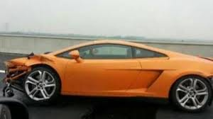 crashed lamborghini for sale lamborghini gallardo totaled by chinese journalist during test drive