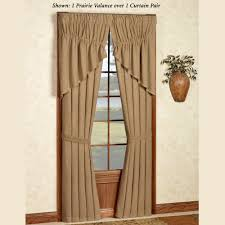 Burlap Ruffle Curtain Themed Curtains Touch Of Class