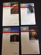 toyota highlander 2010 manual toyota highlander manuals literature ebay