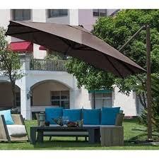 Patio Sets With Umbrella Patio Umbrellas U0026 Shades Store Shop The Best Deals For Nov 2017
