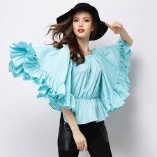 beautiful blouses great unique beautiful ruffles blue blouse in