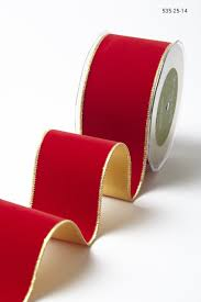 velvet ribbon wholesale 2 5 inch velvet ribbon with gold backing may arts wholesale ribbon