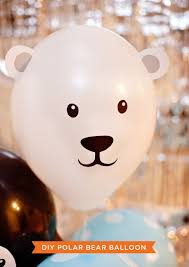 diy penguin u0026 polar bear party balloons polar bear party and