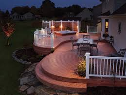 closed small yard design with a central entertaining deck u2014 smith