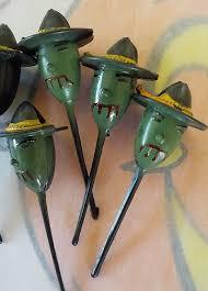 retro kitsch halloween cupcake picks spooky witches six