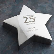 anniversary engraving engraved 25th anniversary silver paperweight engraved gifts