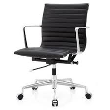 Black Leather Office Chairs Modern U0026 Contemporary Black Leather Desk Chair Allmodern