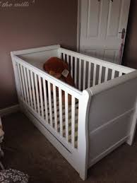 Sleigh Cot Bed Mothercare Darlington Sleigh Cot Bed White Cot Bedding Cots