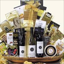 gourmet wine gift baskets beringer founders estates cellar wine trio gourmet wine gift basket