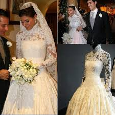 royal wedding dresses real image newest glamorous high neck sleeve imperial 2015