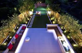Modern Family Garden Striking Modern Garden Design Divided Into Three Sections For A