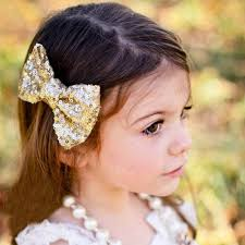 big bows for hair new arrival girl hair shiny sequin barrettes bling bling big