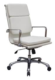 High Back White Office Chair Hendrix White Eco Leather Executive High Back Modern Office Char