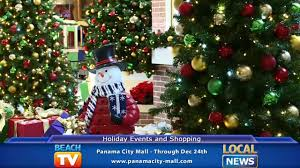 panama city beach christmas lights holiday events and shopping at panama city mall local news youtube