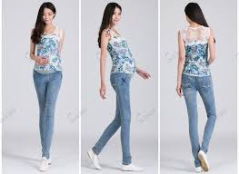 embroidery maternity jeans pants pregnant women casual maternity