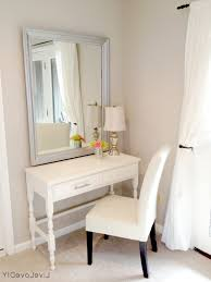 Dressing Table Designs With Full Length Mirror Makeup Table Ideas Single Mirror Built In Drawers Square Shape