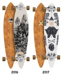 arbor fish bamboo longboard deck deck only boards on nord