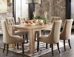 Oak Upholstered Dining Room Chairs Home Design Interior And - Leather and fabric dining room chairs