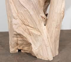Teak Wood Organic Reclaimed Teak Wood Table Base Or Pedestal At 1stdibs