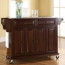 Kitchen Island Cart With Stainless Steel Top Brown Kitchen Islands U0026 Carts You U0027ll Love Wayfair