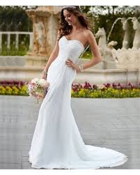 big deal on costbuys simple white wedding dress chiffon and satin