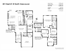 6 Bedroom Floor Plans 811 E 21st Street North Vancouver House Single Family For Sale