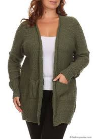 plus size sleeve knit open front cardigan sweater with