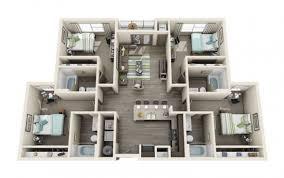 contemporary resort floor plan off campus student housing near osu progress 405