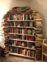 this is my bookshelf made out of books imgur