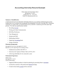 resume examples for internship accounting intern resume the best resume accounting intern resumes template with accounting intern resume