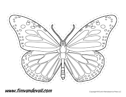 proven printable butterfly pattern monarch stencil graffics and