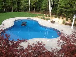 Lagoon Style Pool Designs by Lagoon Style Inground Pool With Custom Spadeck Step And Techo Bloc