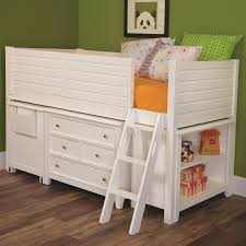 Loft White Laminate Flooring Lea Industries Willow Run Twin Low Loft Bed With Bookshelf