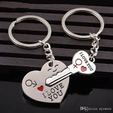wedding favor keychains dhl the key to open your heart lover s keyring wedding